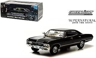 GREENLIGHT 1:24 HOLLYWOOD - SUPERNATURAL (TV SERIES) - 1967 CHEVROLET IMPALA SPORT SEDAN DIECAST TOY CAR 84032-12