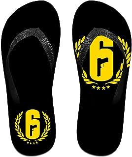 Ra-Inbow Six Si-Ege Logo Pantoufles Tongs Antidérapantes Pour Hommes Tongs De Plage