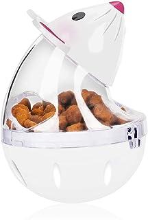 Cat Treat Toy, KASTWAVE Cat Slow Feeder, Cat Treat Toy Interactive Cat Toy Cat Food Ball Mice Water Droplet Bone Tumbler S...