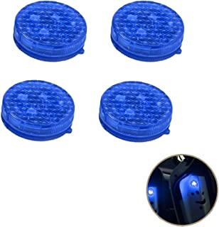 Onerbuy 4 Pack Universal Car Door Warning Light Anti-collision LED Safty Lights Strobe Flashing Open Reflector Lamp Auto On/Off with 3 Flashing Modes (Blue)