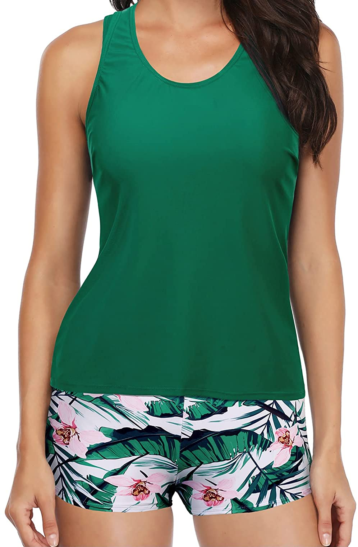 Yonique 3 まとめ買い特価 Piece Swimsuits for Tankini 代引き不可 Athletic Teen Bathin Women
