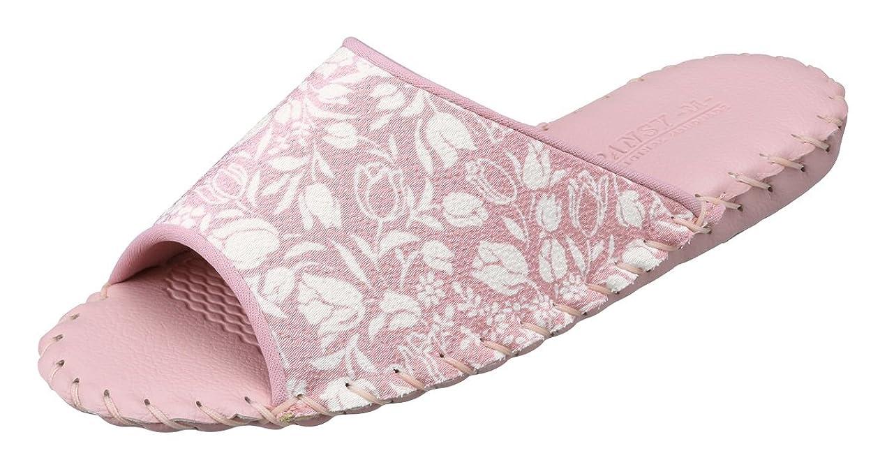 プライバシー哲学的後世[パンジー] スリッパ 婦人用室内履き レディース ルームシューズ ちりめん生地と優しい花柄の 日本製 9513