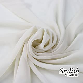 """58"""" OFF WHITE Solid Color Sheer Chiffon Fabric by the Bolt - 25 Yards"""