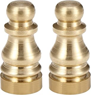 uxcell 2pcs Solid Brass Knob Lamp Finial Decoration Accessories 1 inch High