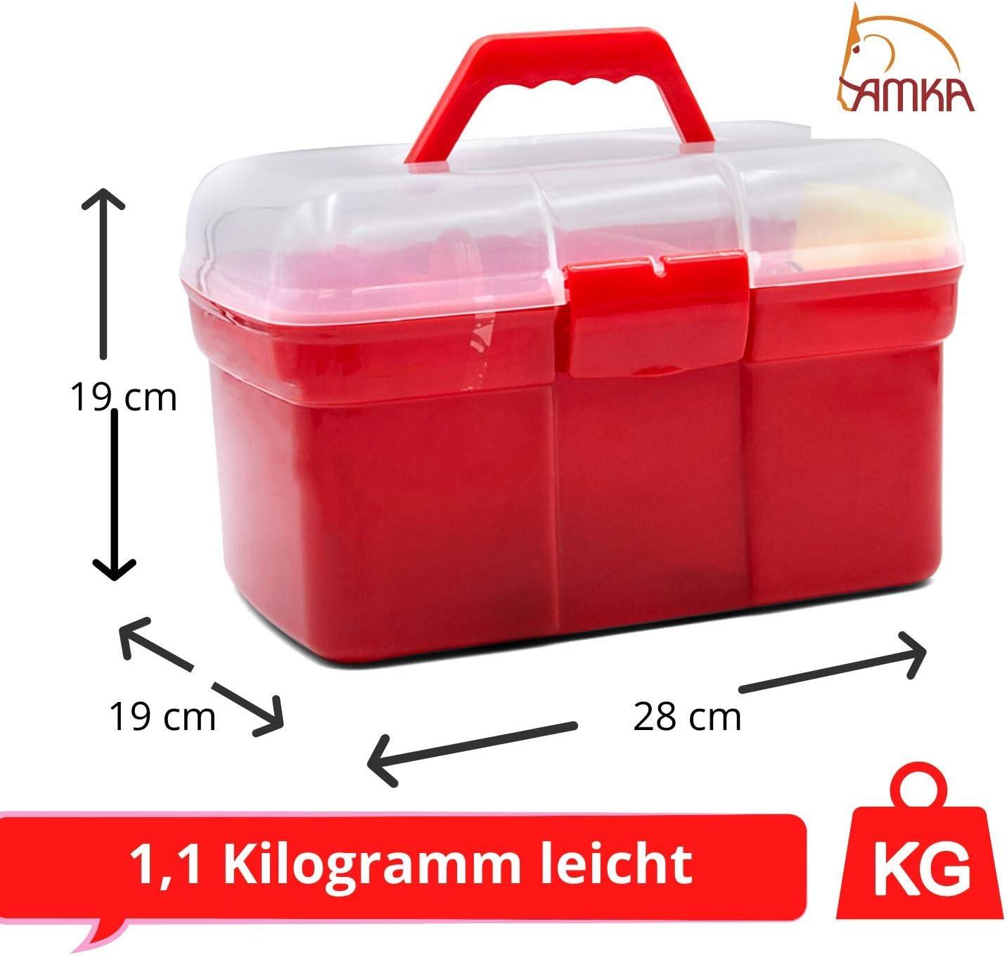8 Farben zur Auswahl AMKA Putzbox f/ür Kinder Putzkasten Putzkoffer gef/üllt 7 Teile