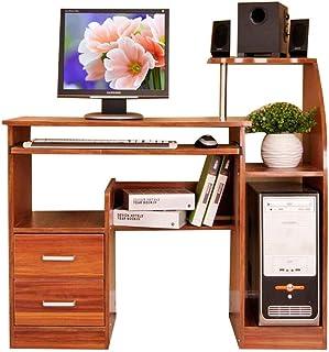YNN Table Bureau d'ordinateur avec tablettes, Armoire et tiroirs, Plateau de Clavier (Couleur : A)