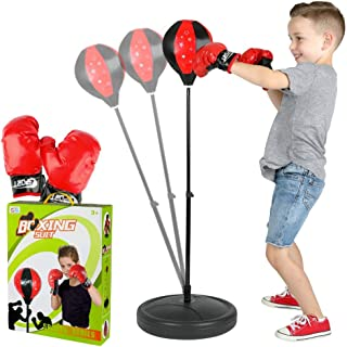 ToyVelt Punching Bag for Kids Boxing Set Includes Kids Boxing Gloves and Punching Bag, Standing Base with Adjustable Stand...