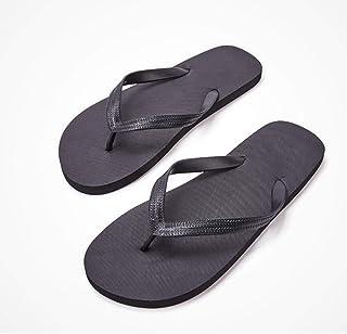 黒フリップフロップ、軽い歩行、足を傷つけない、スーパーレジリエンス (Size : 44)