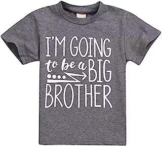تي شيرت للأطفال الصغار الصغار مطبوع عليه I'm Going to Be A Big Brother تي شيرت بأكمام قصيرة