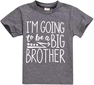 Toddler Kids Baby Boy Tee I'm Going to Be A Big Brother T-Shirt Short Sleeve Tops