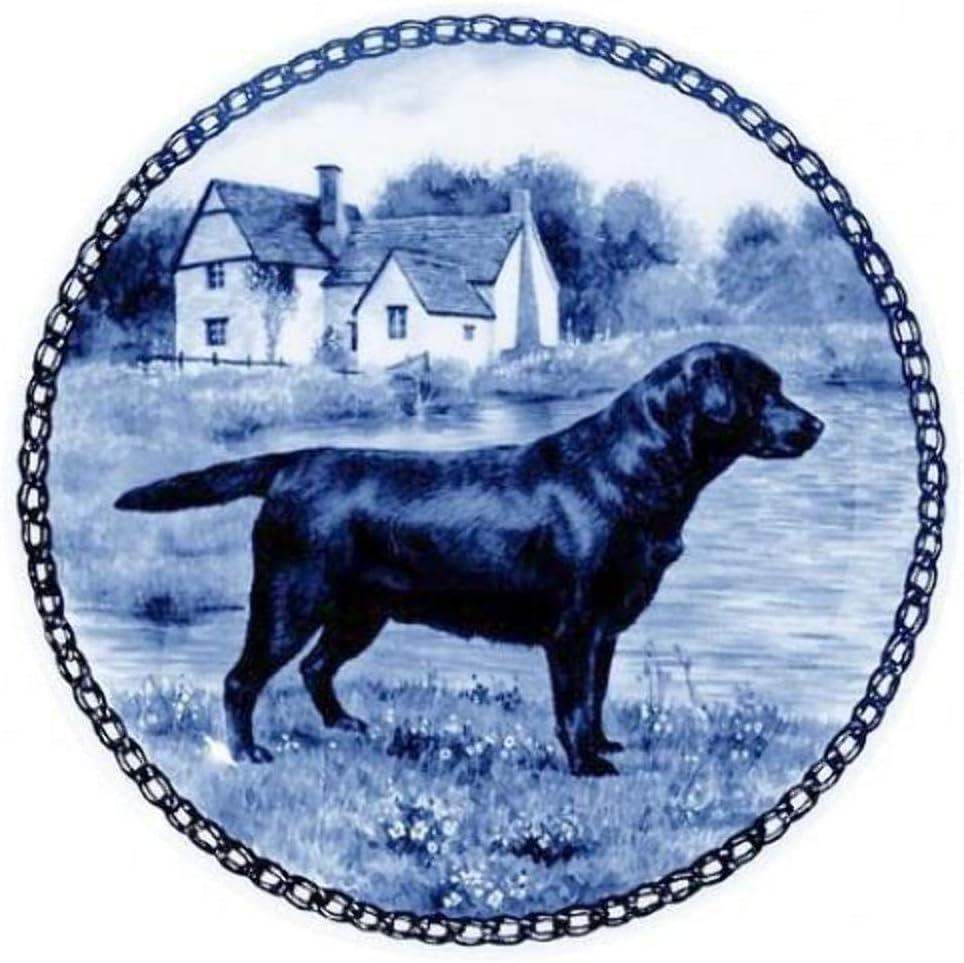 Labrador Retriever Luxury goods Dog Porcelain 5 ☆ popular Plate Lovers 7 Size For all