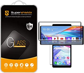 (2 Pack) Supershieldz Designed for LG Wing (2 Glass Main Screen and 2 PET Dual Screen) Tempered Glass Screen Protector, An...