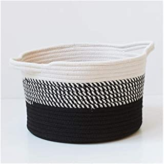 SAP Panier de Rangement Coton Tissage Bureau Jouet Enfant en Bas âge Boîte de Rangement Coton Fil Lavable Boîte de Finitio...
