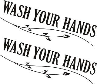 IMIKEYA 2ピース洗面台壁デカールハンドクリーニングリマインダーウォッシュあなたのハンドステッカーポスター病院の公共