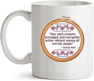 Novelty Mug Rachel Maddow Impeachment Quote Mug - Pissing Off Corrupt People, Anti Donald Trump Political Novelty Mug