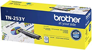 Brother Genuine TN253Y Printer Toner Cartridge, Yellow, Page Yield Up to 1300 Pages, (TN-253Y) Compatible with: HL-L3230CD...