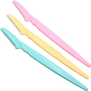 Beautyshow 3pcs Eyebrow Razor Trimmers Eyebrow Shapers Shavers Face Hair Remover Makeup Cosmetic Knife Tools