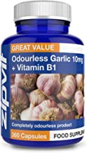 Garlic Odourless 10mg Capsules, 360 Pack. 1 a Day Formula. Made in UK. 12 Months Supply.