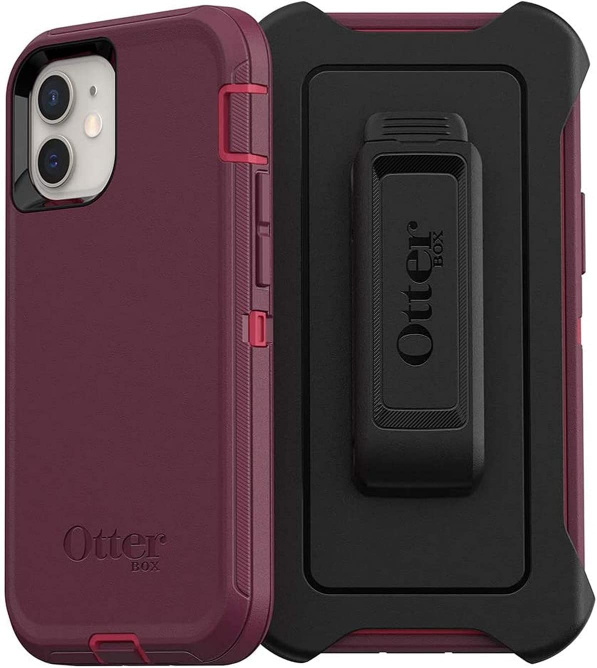 OtterBox Defender Series SCREENLESS Edition Case for iPhone 12 Mini - Non-Retail Packaging - Berry Potion (Raspberry Wine/Boysenberry)