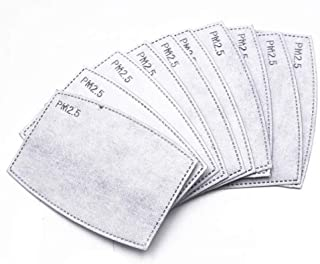 100 PCS PM2.5MASK Activated Carbon Filter, 5 Layers Replaceable Anti Haze Filters, Protective Mouth Filter for Outdoor