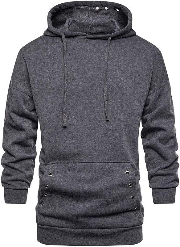 Men S Pullover Sweatshirt Hooded Hipster Gym Long Sleeve Drawstring Hoodies For Pocket