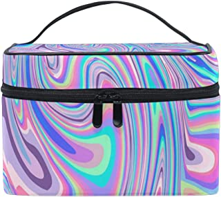 Portable Hanging Large Makeup Travel Bag Waterproof Toiletry Organizer Cosmetic Bag Holographic Rainbow Foil