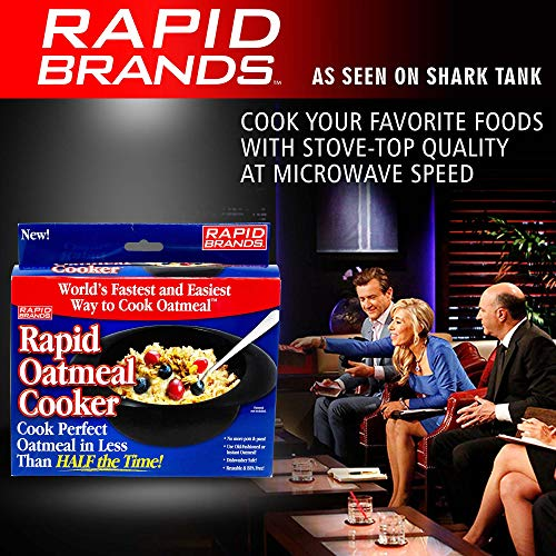 Product Image 8: Rapid Oatmeal Cooker   Microwave Instant or Old-Fashioned Oats in 2 Minutes   Perfect for Dorm, Small Kitchen, or Office   Dishwasher-Safe, Microwaveable, & BPA-Free