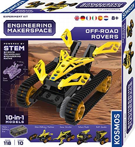 Kosmos 665142 Engineering Makerspace - Off-Road Rovers mehrsprachige Version (DE, EN, FR, IT, ES, NL) Science Experiment Kit, Experimentierset für Kinder