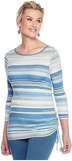 Ruby Rd. Women's Embellished Fine Line Knit Top