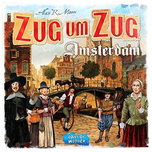 Asmodee Zug um Zug: Amsterdam, Grundspiel, Familienspiel, Deutsch