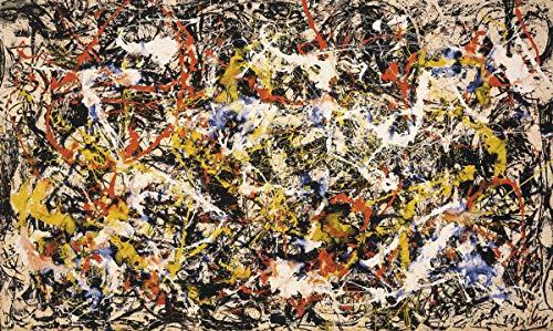 Berkin Arts Jackson Pollock Giclée Leinwand Prints Gemälde Poster Reproduktion (Konvergenz)