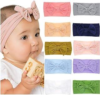 4aff49a19b6e8 Freehium Bandeaux Bébé Fille Lot de 8 Cheveux Lapin Oreille Noeud Kawaii  Elastique Hairband Enfant Serre