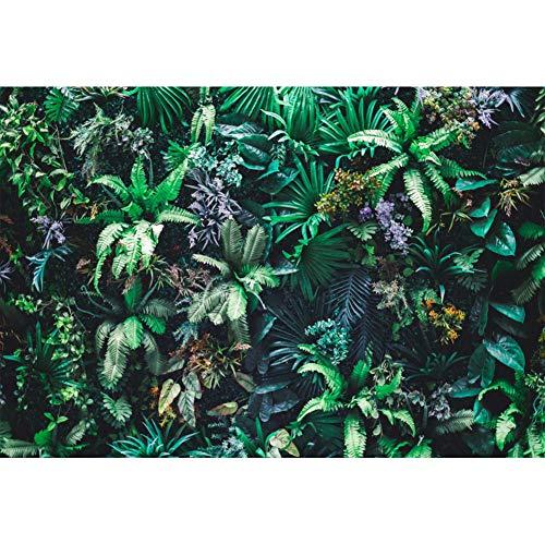 Leowefowa 3x2m Vinilo Primavera Telon de Fondo Naturaleza Jardin Vertical Fondo de Pantalla de Hoja Verde Tropical Fondos para Fotografia Party Photo Studio Props Photo Booth