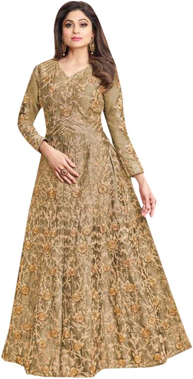 Designer Mulberry Silk Anarkali Salwar Suit for Women Evening Party wear Indian Muslim dress 7729