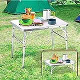 Alu Campingtisch Klapptisch 75 x 55cm nur 3.2 Kg. Gartentisch Camping Tisch Reisetisch Abstelltisch...