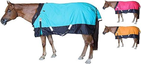 "Derby Originals Nordic Tough 1200D Ripstop Waterproof Reflective All Season Horse Turnout Rain Sheet, Electric Blue, 75"""