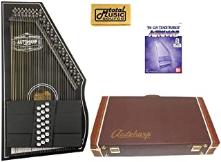Oscar Schmidt OS73CE 1930's Reissue 21 Chord Autoharp with Pickup - Black W/Hard Case