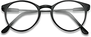 03743d5919be Classic Thin Horn Rimmed RX Optical Round Keyhole magnification Reading  Glasses Unisex