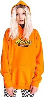 Really Hoodie Sweater Jumper Sweatshirt Top Women's Fun Tumblr Grunge Slogan Vintage Retro Hipster 90s Embroidered