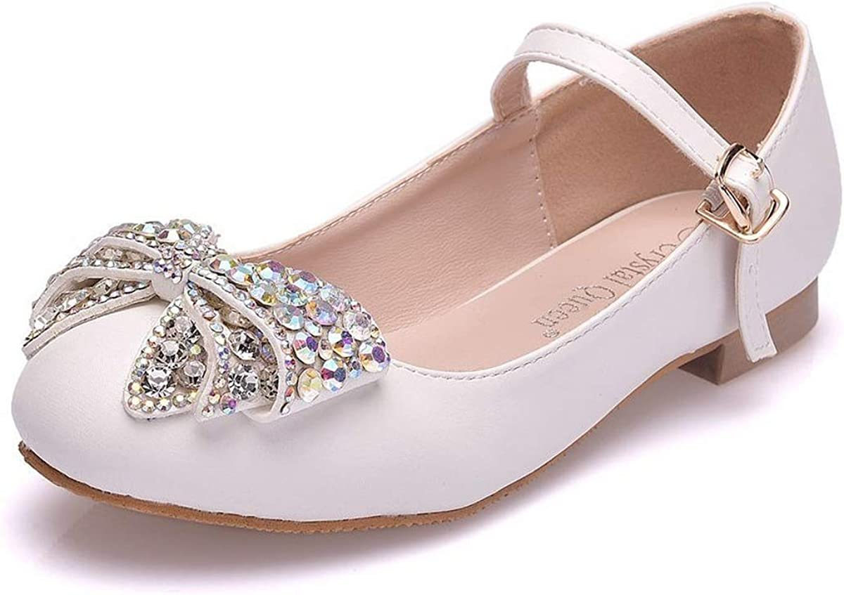 U/D Girl's Bow LaceToddler/Little Kid Ballet Mary Jane Flat Dress Shoes
