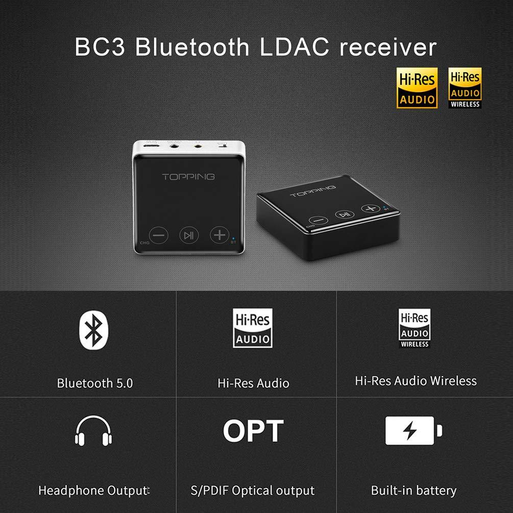 Topping Bc3 Hifi Bluetooth Receiver Ldac Es9018q2c Headphone Output Optical Receiver 24bit 96khz Sbc Aac Aptx Hd Csr8675 Car Aux Receiver Silver Buy Online At Best Price In Uae Amazon Ae