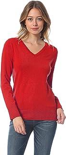 Instar Mode Women's Soft Basic Classic Long Sleeve Knit Sweater Top