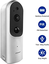 1080P Wire-Free Surveillance Camera, SMONET Rechargeable Battery-Powered Home Security IP Camera with 2-Way Audio, IR-Cut Night Vision, PIR Alarm, Used for Baby/Pet, Support Micro SD Card