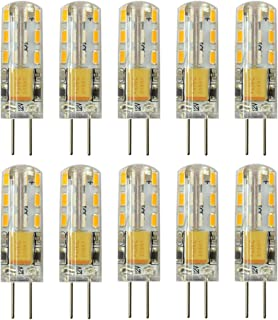 Rayhoo 10pcs G4 LED Bulb Bi-Pin Base Light Lamp 1.5 Watt AC/DC 12V 10-20V Equivalent to 10W T3 Halogen Track Bulb Replacement 360° Beam Angle(Warm White 2800-3200K)