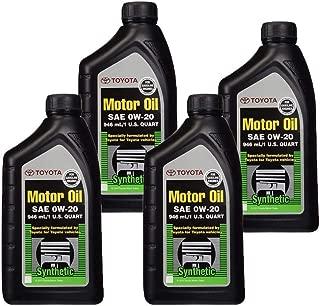 TOYOTA Genuine OEM 00279-0WQTE-01 Oil (4 QUARTS)