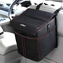 carsun Car Trash Can Waterproof Garbage Bag Organizer 2.6gal with Lid for Little,Car,Auto,Kitchen,Home