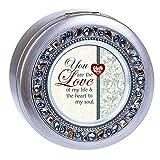 Cottage Garden Love Life Heart Soul Round Jewel - Caja de música con cuentas para jugar lo que...