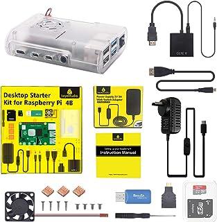KEYESTUDIO Raspberry Pi 4 B Ultimate Starter Kit with 32GB SD Card, 32GB Micro SD Card, 5V 3A Power Supply, Case, HDMI Cab...