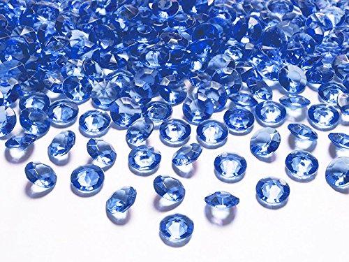 cama24com Dekosteine Diamanten blau dunkelblau 100 Stück 12mm Durchmesser Deko-Edelsteine Tischdeko Hochzeit Palandi®