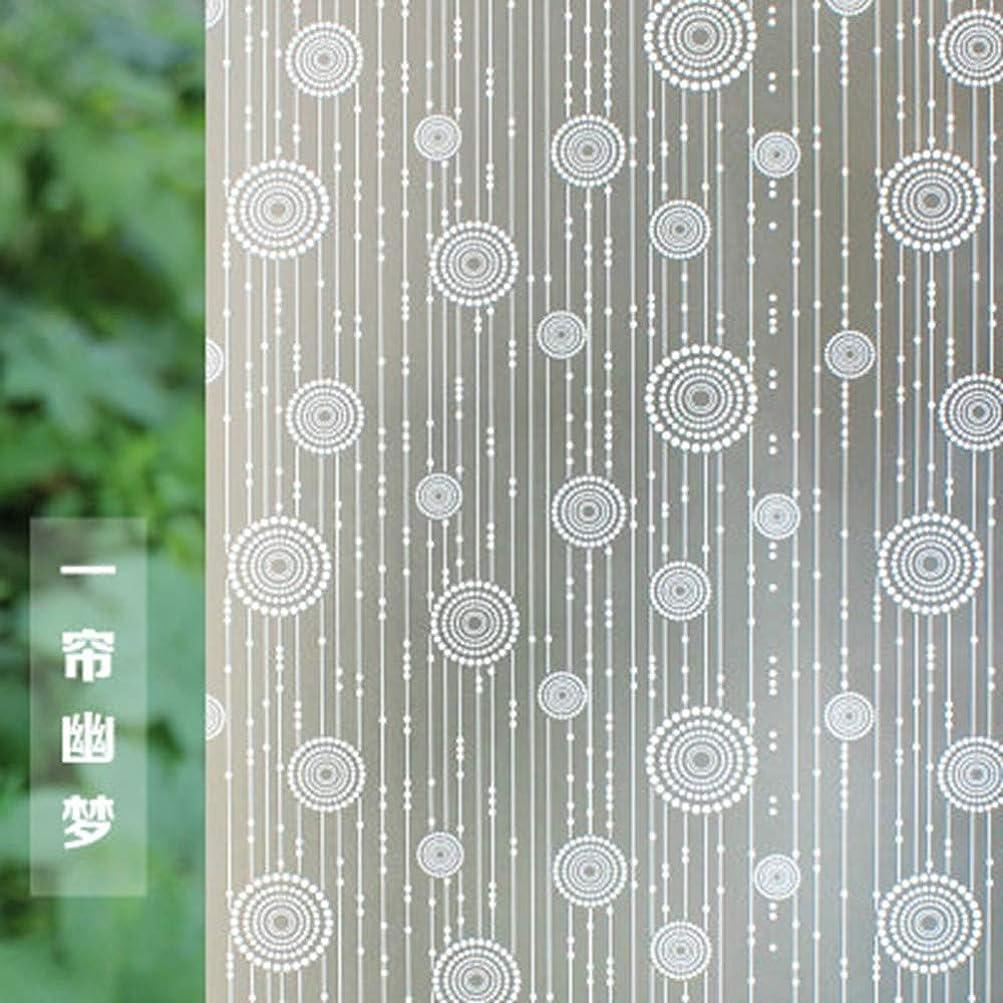 肖像画防ぐ休戦ガラスフィルムウィンドウフィルムステンドプライバシーウィンドウフィルム、PVC粘着ガラスフィルム、つや消し断熱装飾ウィンドウステッカー、90x150cm